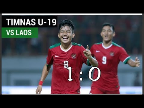 Best Moment  AFF CUP U19 2018 INDONESIA VS LAOS (1 : 0) TADI MALAM