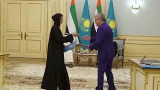 Наследный принц Абу-Даби опубликовал видео своего визита в Астану