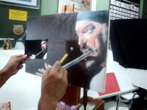 Demosntração de pintura com o professor Marshall 2.