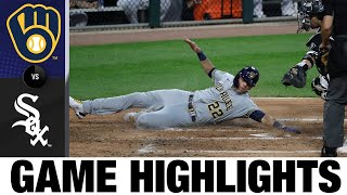 Yelich, Gyorko Lead Brewers In An 8-3 Win   Brewers-White Sox Game Highlights 8/6/20