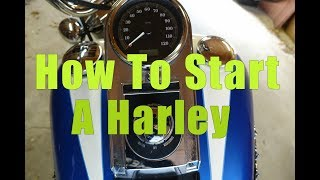 How to Unlock and Start a Harley Davidson Softail Motorcycle