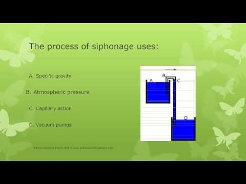 scientific principles exam test plumbing - YouTube
