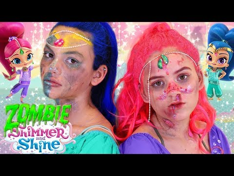 Shimmer and Shine Zombie Makeup Tutorial! Halloween Costume Tutorial!