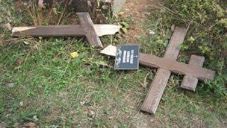 Таджикистан: уничтожение русского кладбища: ломка крестов, надгробия на строительство