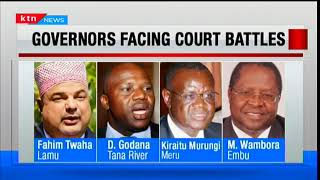 Cases before the courts challenging the win of various governors