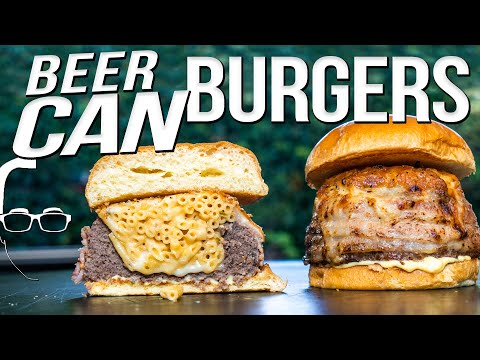 THE BEST BEER CAN (STUFFED) BURGERS | SAM THE COOKING GUY 4K