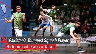 Pakistan's Youngest Squash Player   Muhammad Hamza Khan   Champion British Junior Open Squash 2020