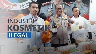 Pabrik Home Industri Komestik Ilegal di Tapos Depok Digrebek Polisi, Tiga Pelaku Diamankan