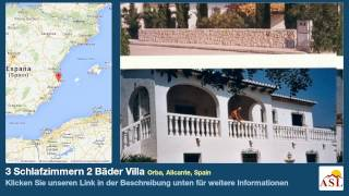 preview picture of video '3 Schlafzimmern 2 Bäder Villa zu verkaufen in Orba, Alicante, Spain'