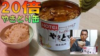 【独身 男飯】 焼き鳥(缶) 食べ放題! ホテイ やきとり 缶詰 1.7kg に挑んでみた ( 大食い )