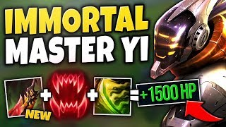 *NEW* DEATH'S DANCE MAKES MASTER YI 100% BROKEN! YOU CAN'T BE KILLED! - League of Legends