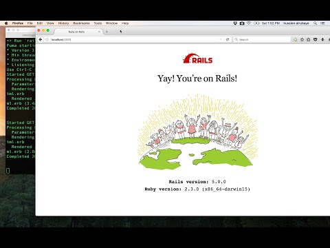 4-  Ruby on Rails || First APP التطبيق الاول