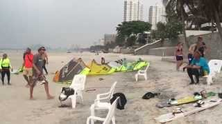 preview picture of video 'Hua Hin.Thailand. Video Central Beach before Rain'