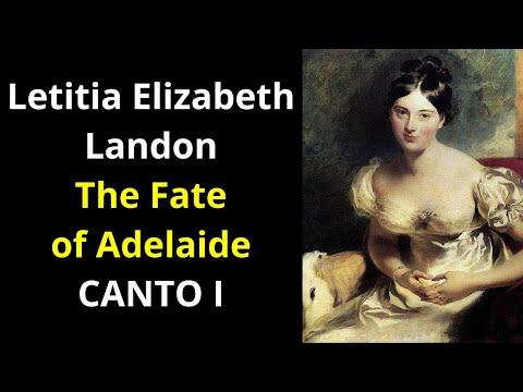 The Fate of Adelaide: A Swiss Romantic Tale - CANTO I | Letitia Elizabeth Landon