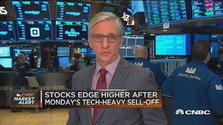 Stocks edge higher after Monday's tech sell-off