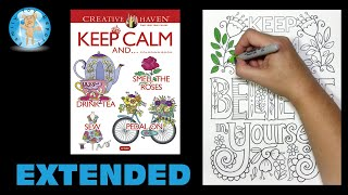 Creative Haven Keep Calm Coloring Book Dover Publications Believe Extended -- Family Toy Report