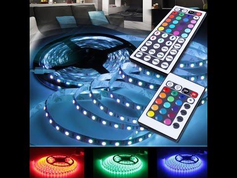 JAGO LED-Streifen LED-Strip Komplettset mit 24 Tasten Fernbedienung STRF