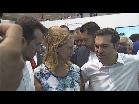 Επίσκεψη Α. Τσίπρα στο κοινό περίπτερο ΨΗΠΤΕ και Διοικητικής Ανασυγκρότησης