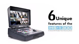 【Official】6 Unique Features of the HS-1300 Portable Streaming Studio