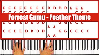 ♫ ORIGINAL - How To Play Forrest Gump Feather Theme  Piano Tutorial! #1 - PGN Piano