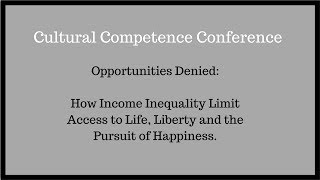 Opportunities Denied: Income Inequality Lecture Given to UPENN Medicine Conference