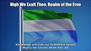 Sierra Leone National Anthem - High We Exalt Thee, Realm of the Free (Nightcore / Lyrics)