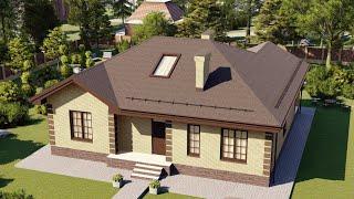 Проект дома 144-D, Площадь дома: 144 м2, Размер дома:  14x14 м