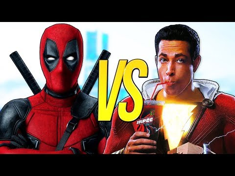 ШАЗАМ VS ДЭДПУЛ | СУПЕР РЭП БИТВА | Shazam Фильм ПРОТИВ Deadpool 2 Movie