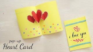 DIY Valentine Gift | Pop - Up Heart Card | DIY Cards