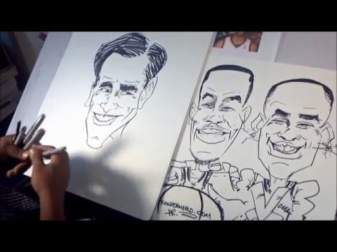 caricature of jim carrey in 4 mins by rowser world