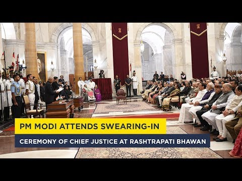 PM Modi attends swearing-in ceremony of Chief Justice at Rashtrapati Bhawan