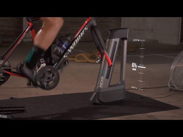 Видео Симулятор Wahoo KICKR Climb Indoor Grade Simulator серо-черный