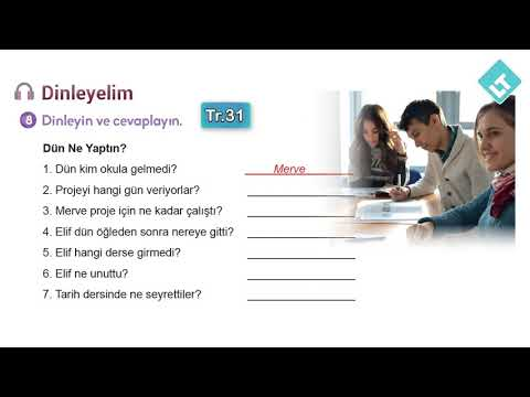 Turkish Listening Practice for Past Simple