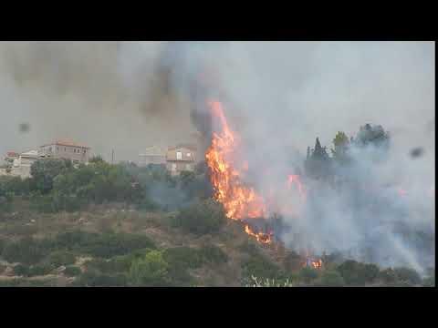 Βίντεο από τη μεγάλη φωτιά στη Λακήθρα