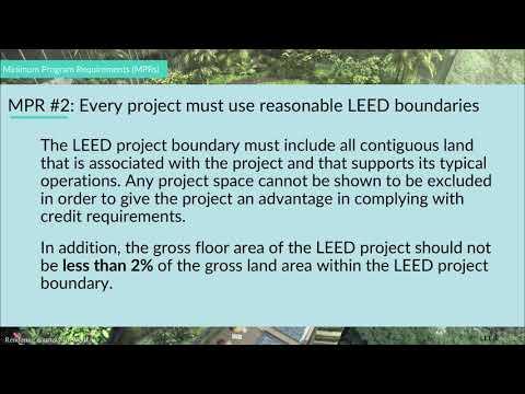 LEED Minimum Program Requirements (MPRs) | LEED V4 Exam ...
