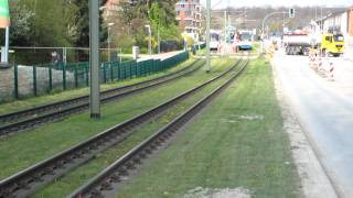 preview picture of video 'Stadtbahn GTZ8-B (Vamos) und M8D+MB4 am Wellensiek'