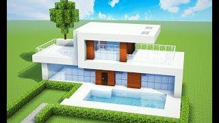 Minecraft tutorial casa moderna facil videos for Como hacer una casa moderna y grande en minecraft 1 5 2