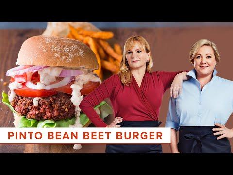 How to Make the Ultimate Vegan Pinto Bean Beet Burger