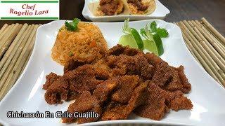 Guisado De Chicharrón En Chile Guajillo