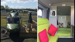 Британский фермер создал элитный отельный номер на борту боевого вертолета
