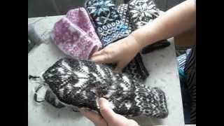 Вязание  Вяжем варежки