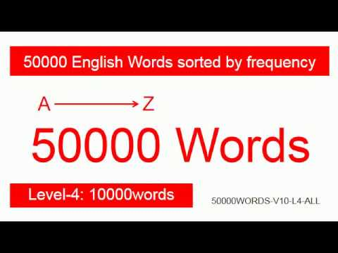 【50000WORDS-V10-L4-ALL】 Level-4, 50000 English Words sorted by frequency, 50000英语词频单词