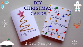DIY 2 Easy Christmas Greeting Cards   How To Quickly Make Christmas Cards   AV VISUALS