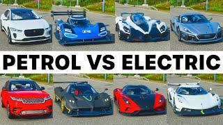 FH4 Acceleration Battle   Rimac, Jesko, Regera, Raesr, Zonda,VW I.D.R, I-Pace & Range Rover Velar!