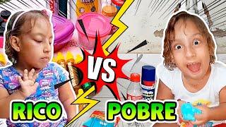 RICO VS POBRE FAZENDO SLIME/AMOEBA - MC DIVERTIDA