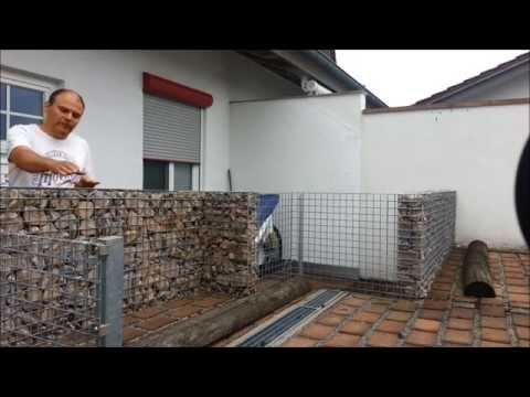 Gabione ( Steinmauer ) einfach selbst bauen