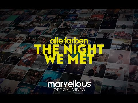 Alle Farben - The Night We Met (Official Lyric Video)