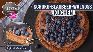 NEU: Glutenfreier Schoko-Blaubeer-Walnuss-Kuchen | Backen Mit Globus & Sally #113