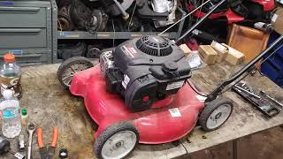 * Mtd 20 inch lawn mower carburetor repair briggs and stratton 300e carb cleaning