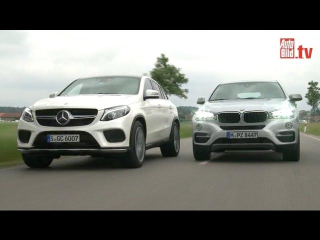 Mercedes GLE Coupé vs. BMW X6 - Dickschiffe im Vergleich (2015)